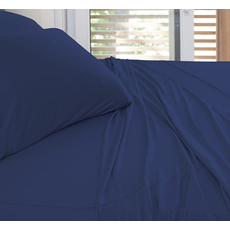SHEEX Experience California King Sheet Set in Navy