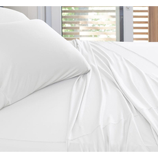 SHEEX Experience California King Sheet Set in White