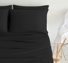SHEEX Luxury Copper California King Sheet Set in Black