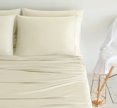 SHEEX Luxury Copper California King Sheet Set in Ivory