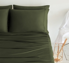 SHEEX Luxury Copper California King Sheet Set in Olive