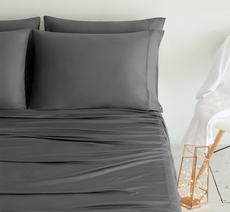 SHEEX Luxury Copper Queen Sheet Set in Gray