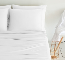 SHEEX Luxury Copper Queen Sheet Set in White