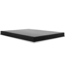 Tempurpedic Flat Low Profile Charcoal Box Spring Split Queen Size