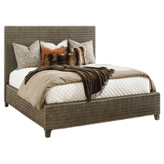 Tommy Bahama Cypress Point Driftwood Isle Woven Platform King Bed