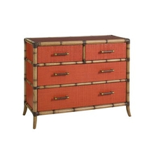Tommy Bahama Home Twin Palms Red Coral Chest