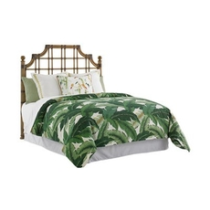 Tommy Bahama Home Twin Palms St. Kitts Twin Rattan Headboard