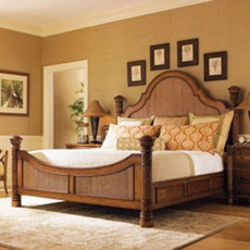 Tommy Bahama Island Estate Round Hill King Size Bed