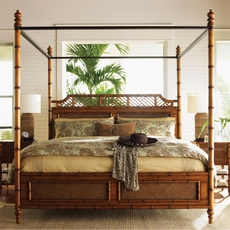 Tommy Bahama Island Estate West Indies Cal King Size Bed