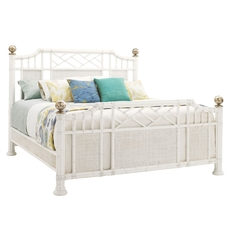 Tommy Bahama Ivory Key Pritchards Bay King Size Panel Bed