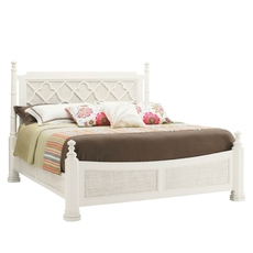 Tommy Bahama Ivory Key Southampton Queen Size Poster Bed