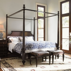 Tommy Bahama Royal Kahala Diamond Head Cal King Size Poster Bed
