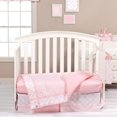 Trend Lab Pink Sky 3 Piece Crib Bedding Set