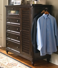 Paula Deen Home Door Chest in Tobacco Finish