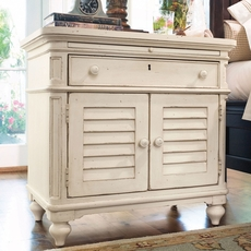 Paula Deen Home Door Nightstand in Linen Finish