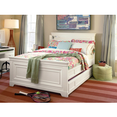 Universal Smartstuff Classics 4.0 Full Size Panel Bed with Trundle in Summer White
