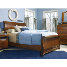 Universal Smartstuff Classics 4.0 Full Size Sleigh Bed in Saddle Brown