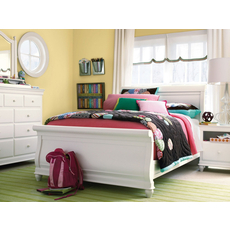 Universal Smartstuff Classics 4.0 Full Size Sleigh Bed with Trundle in Summer White