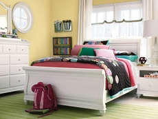Universal Smartstuff Classics 4.0 Full Size Sleigh Storage Bed in Summer White
