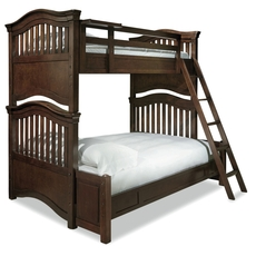 Universal Smartstuff Classics 4.0 Twin Over Full Bunk Bed in Classic Cherry