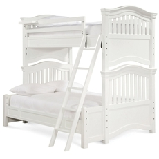 Universal Smartstuff Classics 4.0 Twin Over Full Bunk Bed in Summer White