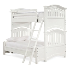 Universal Smartstuff Classics 4.0 Twin Over Full Storage Bunk Bed in Summer White