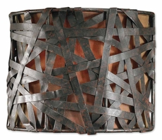 Uttermost Alita 1 Light Wall Sconce in Black