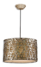 Uttermost Alita Metal Hanging Shade in Antique Silver