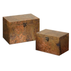Uttermost Ambrosia Copper Boxes Set of 2
