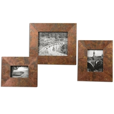 Uttermost Ambrosia Copper Photo Frames Set of 3