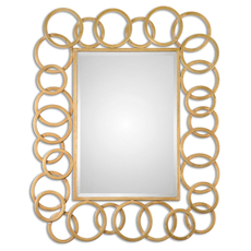 Uttermost Amena Gold Rings Mirror