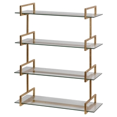 Uttermost Auley Gold Wall Shelf