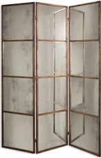 Uttermost Avidan 3 Panel Screen Mirrors