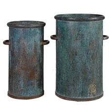 Uttermost Barnum Tarnished Copper Cans Set of 2