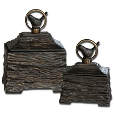 Uttermost Birdie Metallic Gray Boxes Set of 2