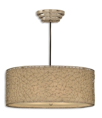 Uttermost Brandon 3 Light Hanging Shade in Silver