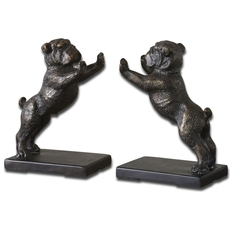 Uttermost Bulldogs Cast Iron Bookends Set of 2