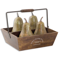 Uttermost Decorative Pears In Basket Set of 5
