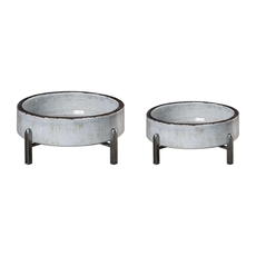 Uttermost Essie Pale Gray Bowls Set of 2