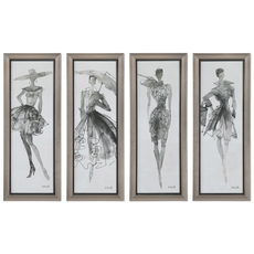 Uttermost Fashion Sketchbook Art Set of 4