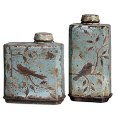 Uttermost Freya Light Sky Blue Containers Set of 2