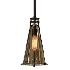 Uttermost Frisco 1 Light Black Metal Mini Pendant