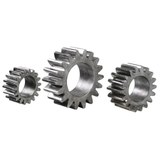 Uttermost Gears Silver Sculpture Set of 3