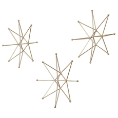 Uttermost Gold Stars Wall Art Set of 3