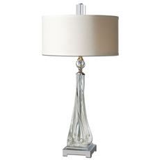 Uttermost Grancona Twisted Glass Table Lamp