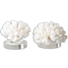 Uttermost Hard Coral Sculptures Set of 2