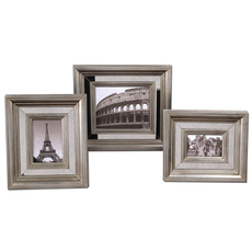 Uttermost Hasana Antique Silver Photo Frame Set of 3