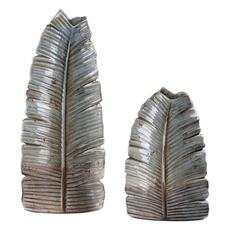 Uttermost Invano Leaf Vases Set of 2