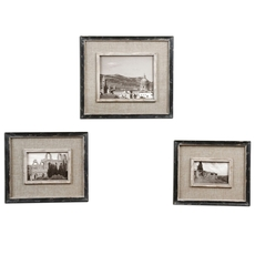 Uttermost Kalidas Cloth Lined Photo Frames Set of 3