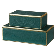 Uttermost Karis Emerald Green Boxes Set of 2